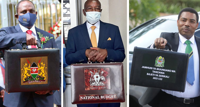 East Africa Finance ministers present 2021/22 budgets