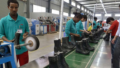 Ethiopian leather shoes finding markets