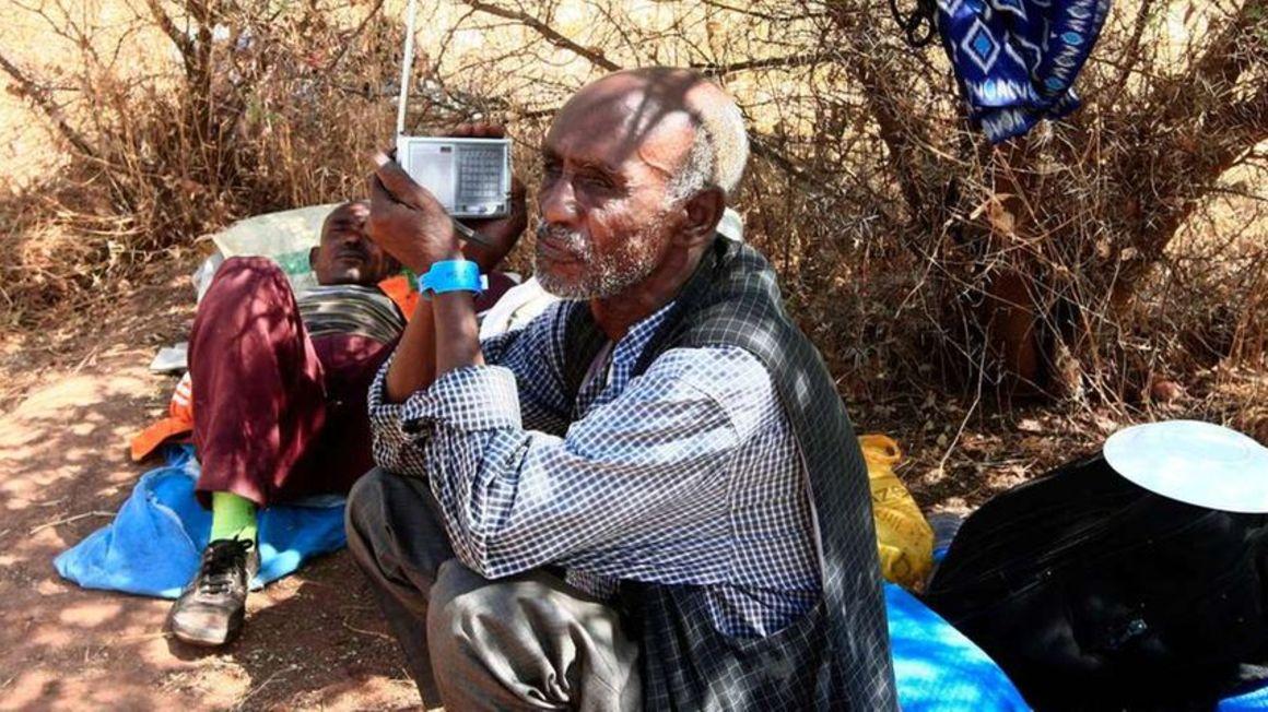 Ethiopian refugee.