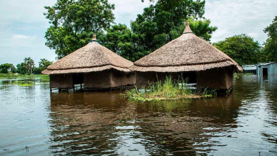 Huts in South Sudan