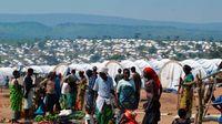 Refugee camp.